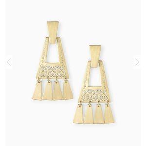 Kendra Scott Kase Gold Fringe Earrings In Gold